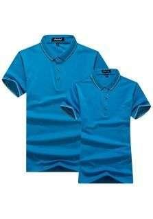 POLO衫莱赛尔平纹短袖T恤